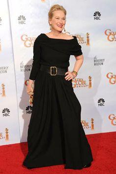 Meryl Streep's Golden Globes Gown - Oprah.com