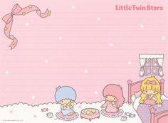 "Sanrio Little Twin Stars ""Yuko Ogura"" Letter Set"