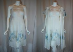 1950s 1960s Rogers White Peignoir Set 32 Small by IntimateRetreat