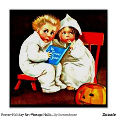 Poster-Holiday Art-Vintage Halloween 20 Poster