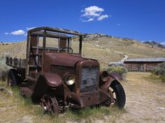 Ghost Towns In Montana | Old Truck, Bannack State Park Ghost Town, Dillon, Montana, United ...