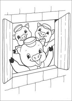 coloring page three Little Pigs - three Little Pigs