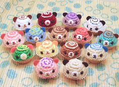 Amigurumi cupcakes from The Ugly Sweater: January 2012