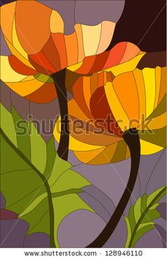 Find Poppy Stained Glass Window stock images in HD and millions of other royalty-free stock photos, illustrations and vectors in the Shutterstock collection. Thousands of new, high-quality pictures added every day. Glass Painting Designs, Stained Glass Designs, Stained Glass Projects, Stained Glass Patterns, Mosaic Flowers, Stained Glass Flowers, Stained Glass Art, Stained Glass Windows, Mosaic Art