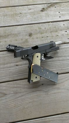 1911 main stay of the defense industry. the bigger the hole the faster they bleed and pass out from bloodloss.