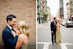 Love the idea of using a Tux and elegant gown for engagement photos. . . how timeless!