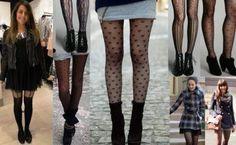 tipos de meia calca para usar com saia