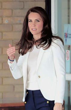 The Duchess of Cambridge dressed for action today as she attended a sailing roadshow - and even took part in a treasure hunt.