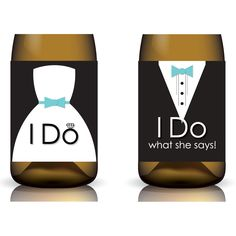 wine labels for wedding | ... Do What She Says ... Printable Wedding Wine Label Set by Gifted Labels