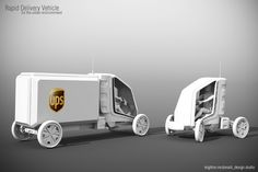 The development and production of inter-city delivery vehicles is not something that we see being talked about before every international auto show with the same kind of enthusiasm that an Audi, Ferrari or BMW street cars garner. But delivery vehicles r Electric Cargo Bike, Electric Cars, Microcar, Car Camper, Mitsubishi Pajero, Futuristic Cars, Pedal Cars, Transportation Design, Automotive Design