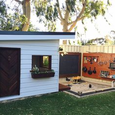 Kicking off the first weekly Cubby House Inspo for 2018 - with this amazingness 😍 which belongs to the gorgeous fam @little_birdee and… Backyard For Kids, Kids Yard, Backyard Playground, Kids Cubbies, Backyard Paradise, Sand Pit, Outdoor Play Spaces, Kids Outdoor Play, Kids Sandpit