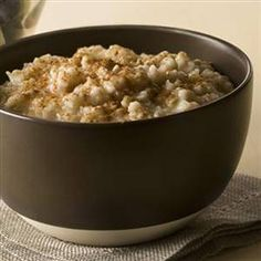 Oatmeal with Agave or Orange Blossom Honey and Cinnamon.  (The only way I start my day....YUM!)