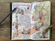 Antwerp sketchnote, Midori Traveler's Notebook