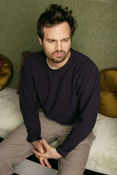 """Mark Ruffalo. He looks like a 5 year old on a """"time-out."""""""