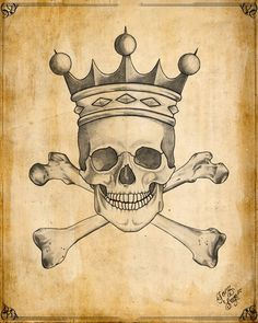 I like skulls wearing crowns.