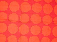 Marimekko Red Pienet Kivet Light  Cotton Fabric