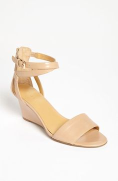 Parker Striped 100mm Wedge Sandal   Nude wedges and Nude shoes