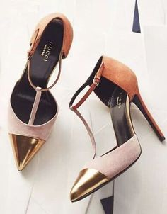 43e21b280 Gucci color block suede t-strap pumps Stiletto Heels, High Heels, Honda,