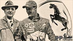 Enzo Ferrari&Michael Schumacher