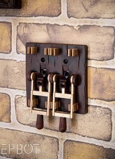 Steampunk switches to make the light switches stand out. Here is the link for the article: http://www.epbot.com/2015/08/the-top-3-steampunk-switches-for-your.html