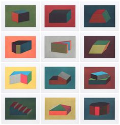 Forms Derived from a Cubic Rectangle | Sol LeWitt, Forms Derived from a Cubic Rectangle (1990)