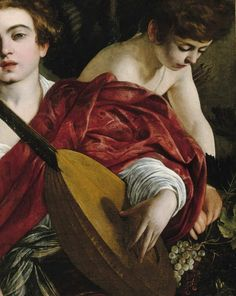 Italian Baroque master Michelangelo Merisi da Caravaggio (1571–1610). The Musicians, 1595 (detail).