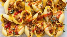Cheeseburgers? Good. Stuffed Shells? Good. Together? Amazing. Cheesy beef and onions are stuffed inside pasta shells and baked to hearty perfection.