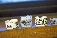 shrinky dink rings an absolute must to make and add to stuff to sell at craft fairs this spring and summer