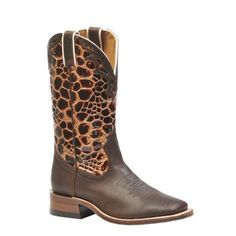 "Stand out with Giraffe Print! Boulet Women's 12"" Wide Square Toe Giraffe Print Boots $219.99"