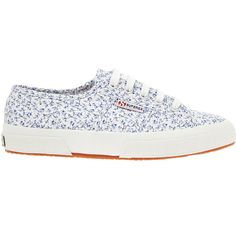 Superga White 2750 Michael Print Sneaker ($86) ❤ liked on Polyvore featuring shoes, sneakers, summer sneakers, lacing sneakers, white flat shoes, flat lace-up shoes and flat shoes