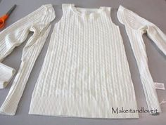 Make a girls' dress from an old sweater