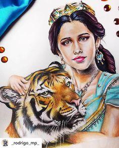 "Aladdins Remake on Instagram: ""Repost: @_rodrigo_mp_ 🕌 AMAZING ART! Love Rajah sm! Can't wait to see how Rajah looks in the film!! ✨🧞♂️✨ #fanart #disneyprincess #disney…"" Disney Jasmine, Aladdin And Jasmine, Princess Jasmine, Aladdin Wallpaper, Aladdin Live, Disney Fun, Disney Live, Disney Paintings, Disney Colors"