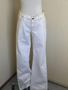 CAbi Size 2 Off White Denim Boot Cut Jeans Style 895 #Vigoss #BootCut