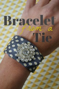for brides maides to match groomsmens ties---DIY Tie Bracelets - Titicrafty by Camila