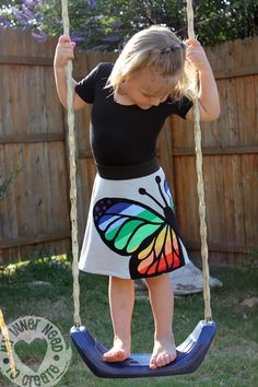 Rainbow Butterfly Skirt