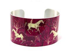 Cuff bracelet, wide women's bangle, gift for horse lover. C139 £19.50