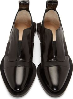 Paco Rabanne Black Square Heel Slip-On Shoes