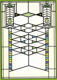 ZP_Frank Lloyd Wright_Art-glass window for the Frederick C. Robie House, 1908