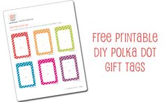 Looking for a Printable Gift Tag Templates Free. We have Printable Gift Tag Templates Free and the other about Printable Chart it free. Tag Templates, Templates Printable Free, Free Printables, Free Printable Gift Tags, Printable Labels, 1 Gif, Prints, Gravy, Bright