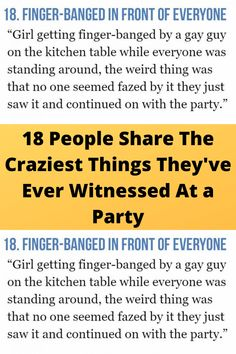 18 #People Share The Craziest #Things They've Ever Witnessed At a #Party Funny Laugh, Wtf Funny, Funny Memes, Online Shopping Fails, Grey Hair Transformation, Tattoo Fails, Martial Arts Workout, Cute Funny Babies, Natural Eye Makeup