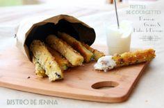 Frittes de courgettes au parmesan graines & herbes de Provence