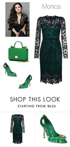 """""""Monica"""" by sony-effe ❤ liked on Polyvore featuring Dolce&Gabbana"""