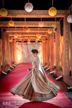 Bridal Wear - The Bride Rimple! Photos, Hindu Culture, Beige Color, Decoration, Bridal Makeup, Sangeet Makeup pictures, images, vendor credits - Bianca, WeddingPlz