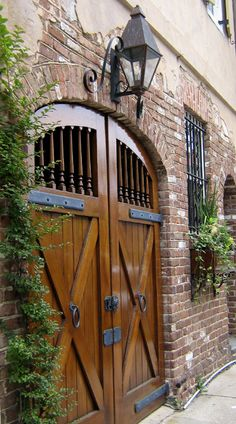 This former carriage entry has been beautifully renovated. Charleston, South Carolina