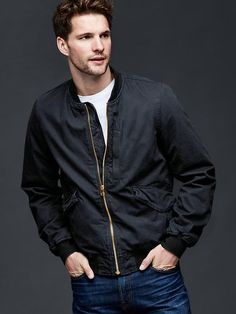 Create a stylish look with men's coats & jackets from Gap. Browse a stylish collection of jackets for men including denim jackets, bomber jackets, and blazers. Bomber Jacket Men, Men's Coats And Jackets, Baby Kids Clothes, Mens Fashion, Fashion Tips, Maternity, Mens Tops, T Shirt, Canvas