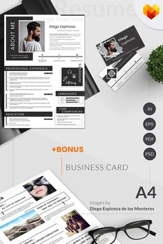 Bring emphasis to the creative showcase of your portfolio with the Diego Espinosa - graphic designer resume template. Graphic Designer Resume Template, Graphic Design Resume, Modern Resume Template, Cv Design, Web Design Trends, Resume Templates, Report Design, Business Card Psd, Newspaper Design