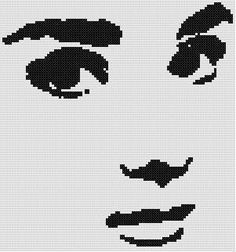 0 point de croix audrey hepburn - cross stitch