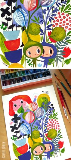 orange you lucky!: watercolour therapy . . .