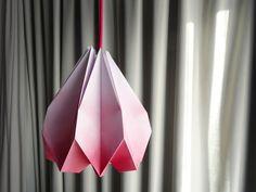 DIY-lampara de papel plegado. DIY How to folding paper lamp