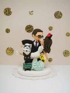 Star wars and Disney theme with dog Custom wedding by Clayphory